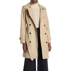 London Fog Hooded Waist Tie Trench Coat XXL